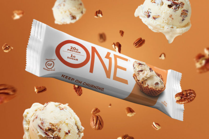 The Hershey Co.'s One Brands business is debuting a new butter pecan One Bar. Featuring a soft, buttery inside with chunks of pecans, the gluten-free protein bar contains 20 grams of protein and 1 gram of sugar.