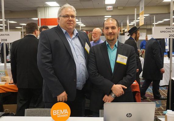Stephen Renaud (left) and Aaron Burke of ABI Ltd.