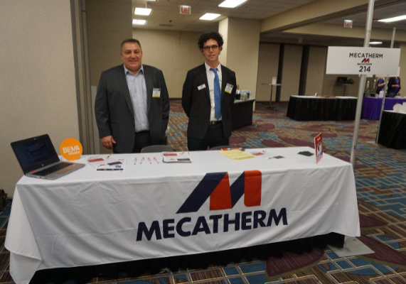 Cyril Munsch, left, and Franck Ellenbogen  from Mecatherm.