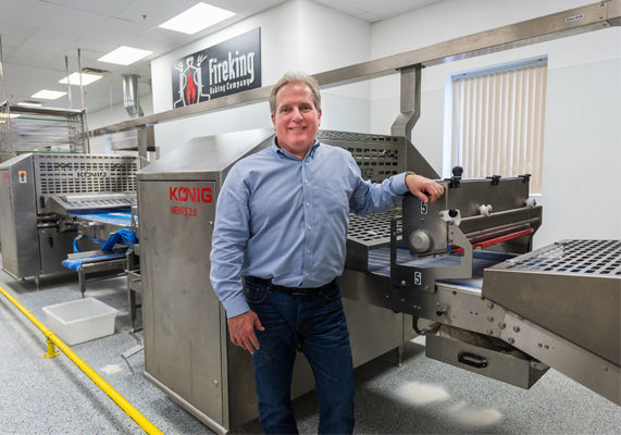 Greg Acerra, a chef by trade, did not intend to get into the wholesale baking business, but when his small bakery took off in sales, he fully embraced the new venture.