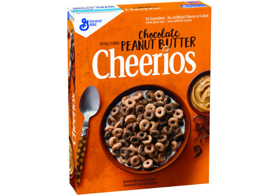 General Mills' new Chocolate Peanut Butter Cheerios are made with real cocoa and peanut butter. The whole grain oat cereal contains 120 calories per serving. (1 of 16)