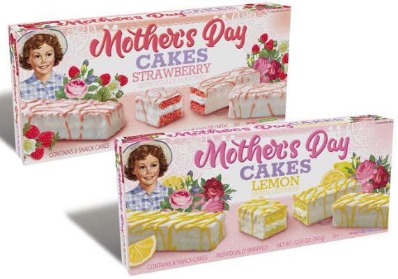 McKee Foods Corp. is celebrating Mother's Day with two new Little Debbie Mother's Day cakes. The strawberry variety features strawberry cake with a crème filling enrobed in white icing topped with a strawberry drizzle. The lemon variety features lemon cake with a crème filling enrobed in white icing topped with a lemon drizzle.   (1 of 12)