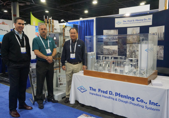 From left: Joe Sweeney, Kenneth Girts and Paul DeFelice, all with the Fred D. Pfening Co.