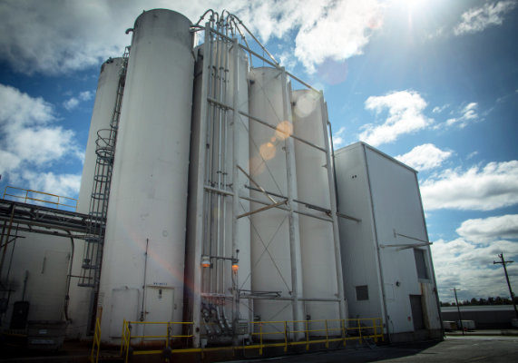 In the 985,000-square-foot facility, the Princeton plant bakes enough product to go through a dozen or more truckloads of flour every day.  (1 of 7)