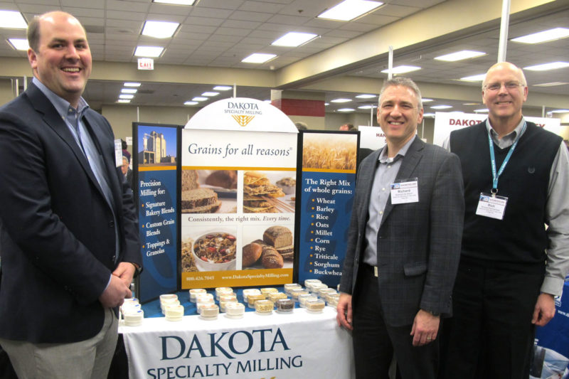 From left: W. Peter Matthaei, Richard de Kievit and Rich Karnemaat of Dakota Specialty Milling.