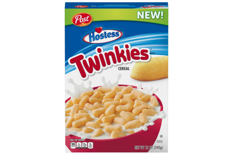 """Post has partnered again with Hostess Brands, L.L.C. to bring the Twinkies brand to the cereal aisle in late December. New Post Hostess Twinkies cereal replicates the taste and oblong shape of the golden-colored snack cakes and contains 180 calories and 16 grams of sugar per 1-cup serving.  """"In developing a cereal version of the iconic Twinkies, our top priority was focused on delivering the great Twinkies flavor in each bite,"""" saidJosh Jans, brand manager of cereal partnershipsat Post Consumer Brands. """"Knowing that taste remains the No. 1 purchase driver of cereal, we conducted multiple consumer tests, and the new Twinkies Cereal delivered. We think fans will find that it not only tastes great with milk but also outside the bowl.""""  Post Hostess Twinkies cereal is the latest collaboration between Post and Hostess, joining a family of other cereal offerings, including Post HostessHoney Bunand Donettescereal, which debuted in late 2018."""