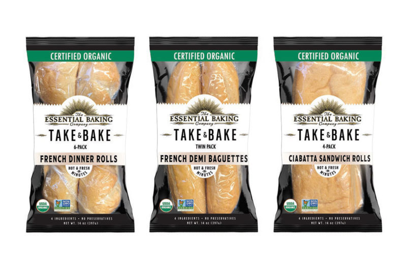 The Essential Baking Co. is unveiling its Take & Bake offerings in new formats that include twin pack Demi-Baguettes, four-count Ciabatta Rolls and six-count French Dinner Rolls. The bread was created in response to consumer requests for smaller portions that could also be easily used to make sandwiches. All products within the line have a 90-day shelf life and do not contain preservatives or G.M.O.s. Take & Bake bread will be available at retailers beginning Feb. 1.