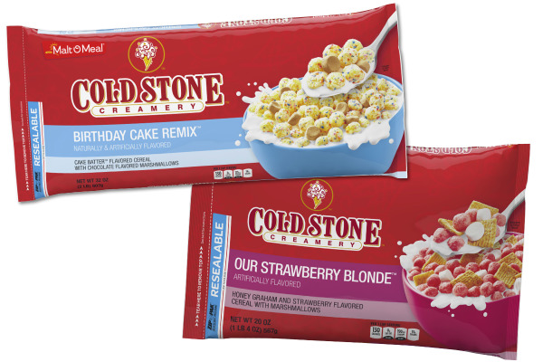 Malt-O-Meal & Cold Stone Creamery cereal
