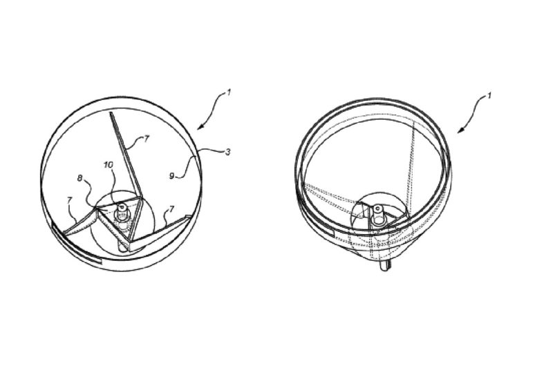 An inner cone and outer cone with a defined space between them make up this kneading machine. Dough is placed in the inner cone and falls down to a hole at the bottom. Rotating scraping wings knead the material through the hole and upward through the space between the inner and outer cone until dough moves out from the device.  US Patent No. 10,004,238 (June 26, 2018), M. Andersson and P. Ivarson, assigned toSanso Forvaltning AB, Horby, Sweden.