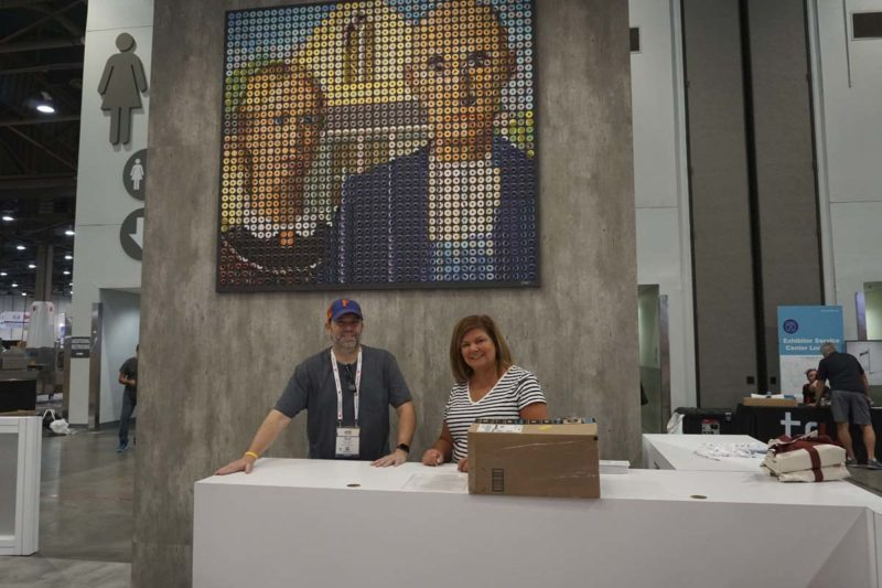 Rick Oleshak, left, and Tricia McNamara of AB Mauri North America (Booth No. 6653).