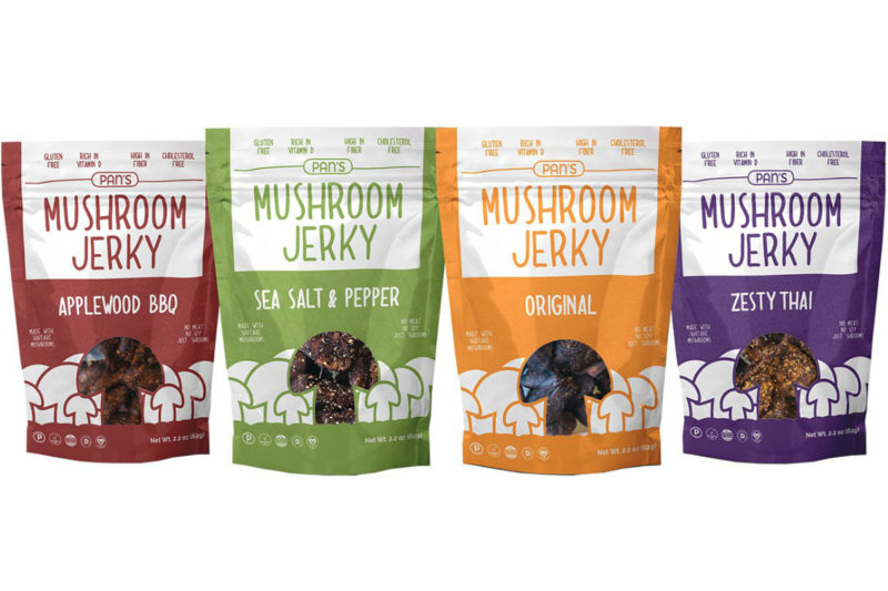 Sporting umami taste and hearty texture, Pan's Mushroom Jerky originates from a decades-old recipe that's been updated using new flavors and organic ingredients with shiitake mushrooms the star attraction. The jerky is vegan, gluten-free, paleo friendly, and a rich source of fiber and vitamin D. It is the type of meaty-textured snack herbivores crave and carnivores love, said Michael Pan, founder of the Camas, Wash.-based company.