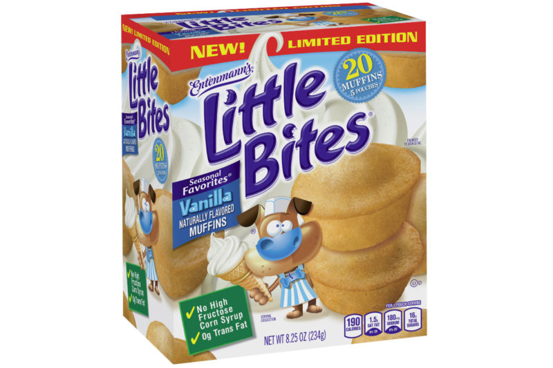 Bimbo Bakeries USA is expanding its Entenmann's Little Bites line with a new Vanilla Naturally Flavored variety. The mini muffins are packaged in pre-portioned 190-calorie pouches.