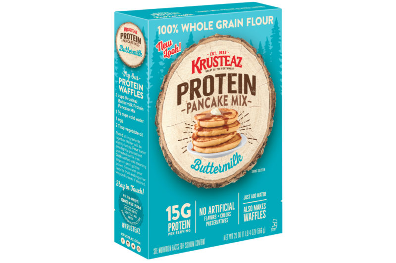 Continental Mills, Inc.'s Krusteaz brand is introducing Buttermilk Protein Flapjack & Waffle Mix. Made from 100% whole grain flour, the mix provides 15 grams of protein and 4 grams of fiber per serving.