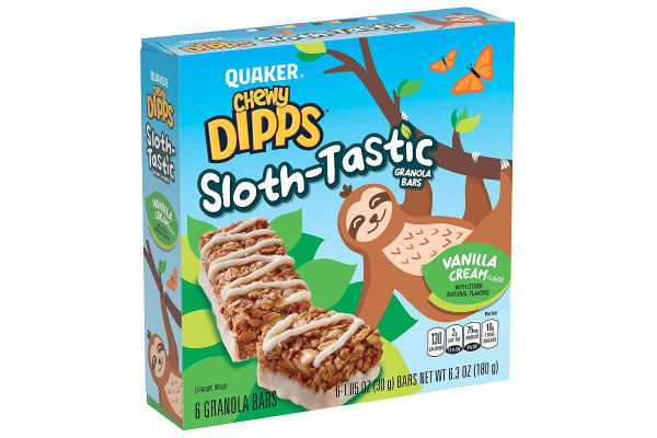 Quaker Chewy Dipps Sloth-Tastic Granola Bars
