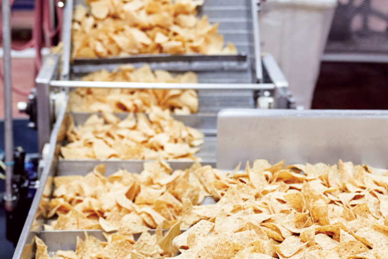 Die-cut tortilla chips can be made in any number of shapes and sizes.