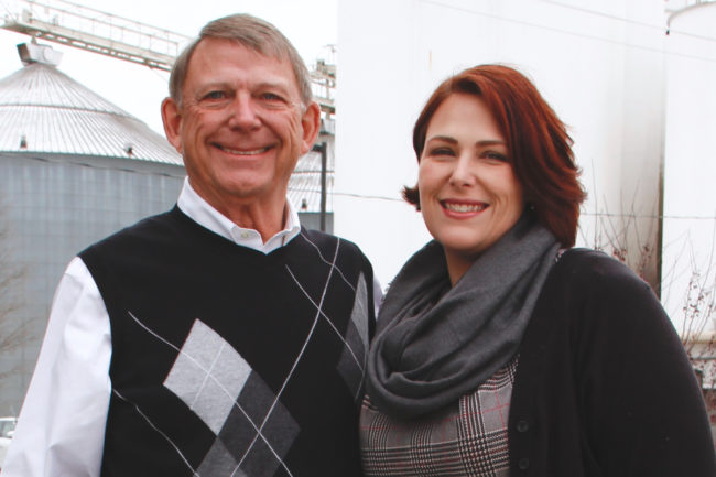 The third and fourth generation leaders of Knappen Milling, Charles B. (Chip) Knappen III, left, and Emily Likens.
