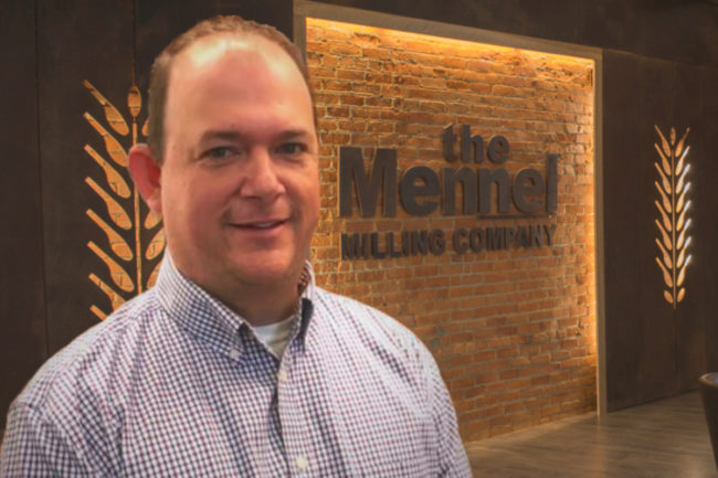 Michael MaGinn, director of operations for the Grain Division of The Mennel Milling Co.
