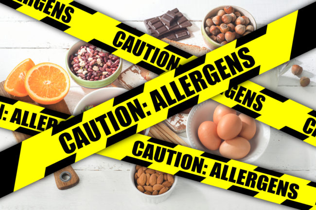 Food allergies concept
