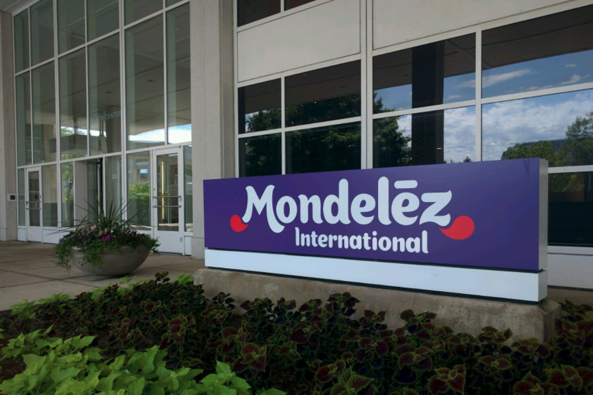 Mondelez headquarters sign