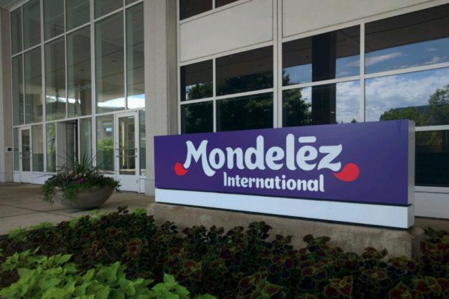 Mondelez headquarters sign