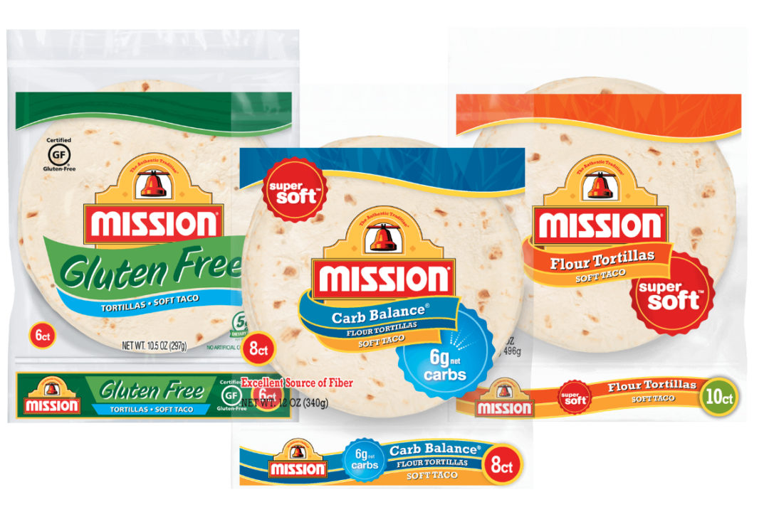 Mission carb-balance, gluten-free and super soft wheat flour tortillas
