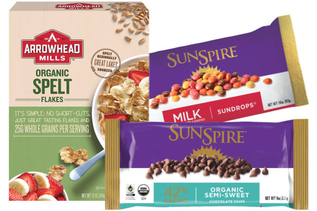 Arrowhead Mills and SunSpire products