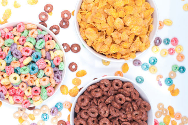 Bowls of cereal