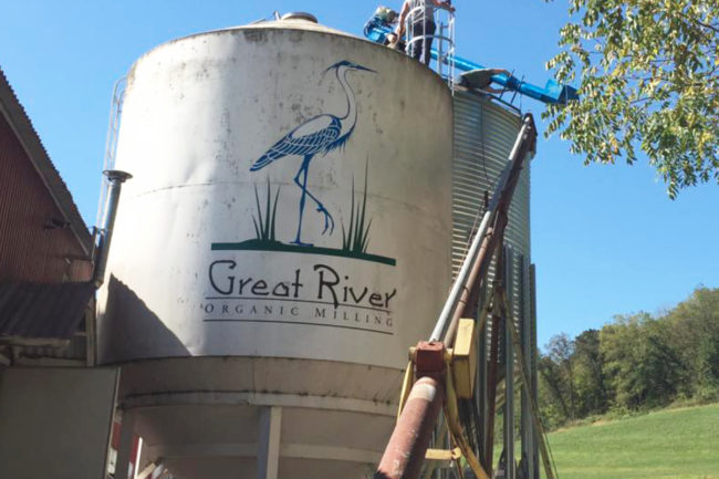 Great River Milling silo, Organic Ventures