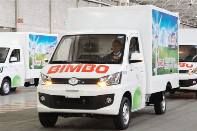 Grupo Bimbo sustainable distribution fleet