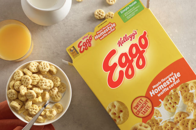Kellogg maple flavored homestyle Eggo cereal