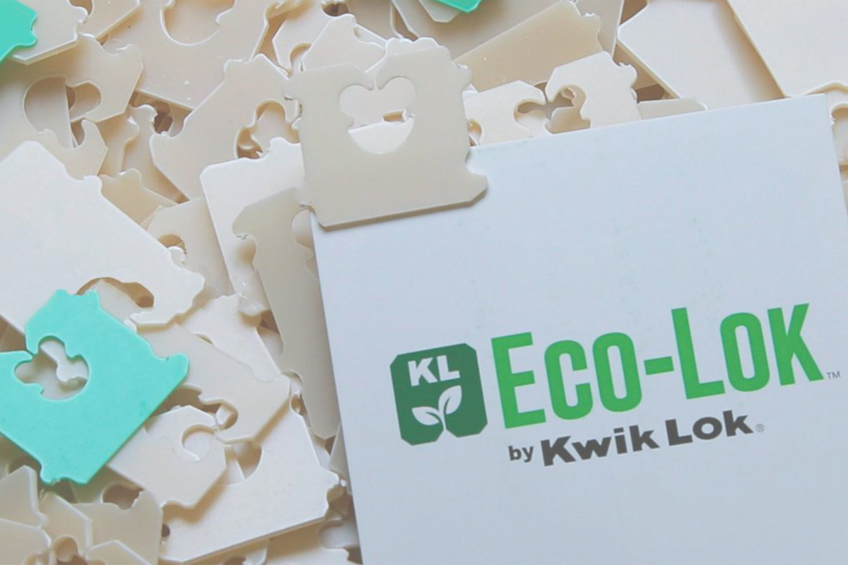 Kwik Lok plant-based Eco-Lok bag closure