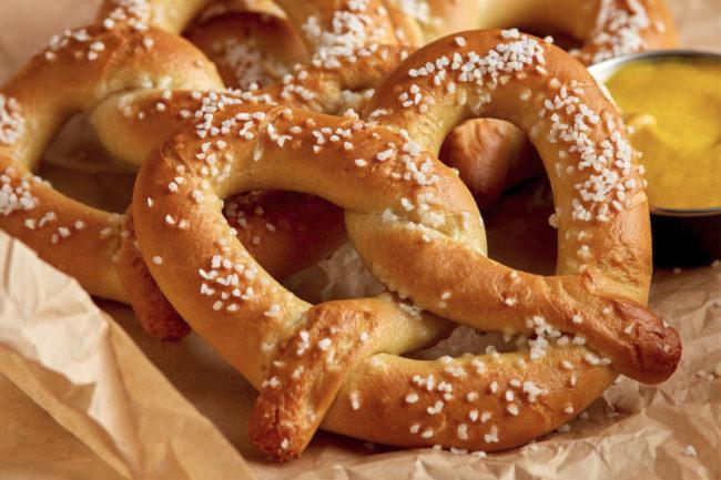 J&J Snack Foods soft pretzels
