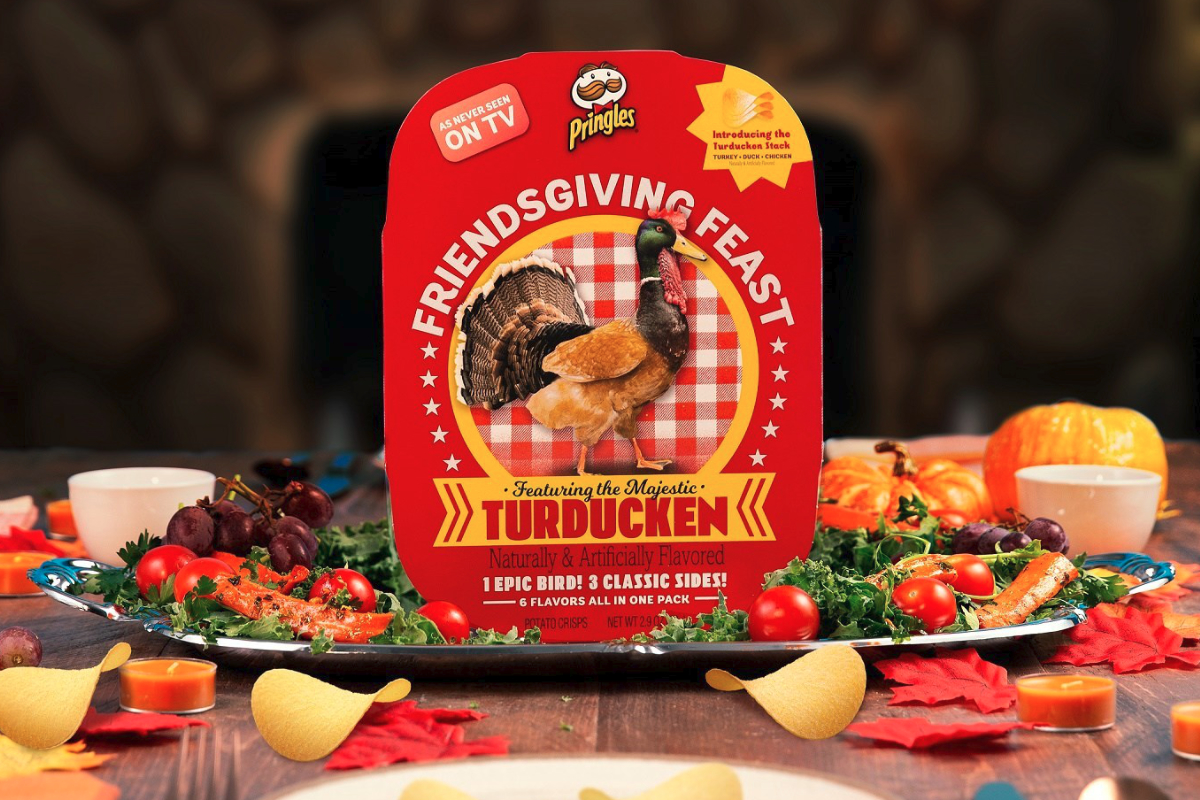Pringles Friendsgiving Feast Thanksgiving kit with turducken