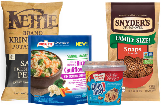 Campbell Soup and Conagra Brands products