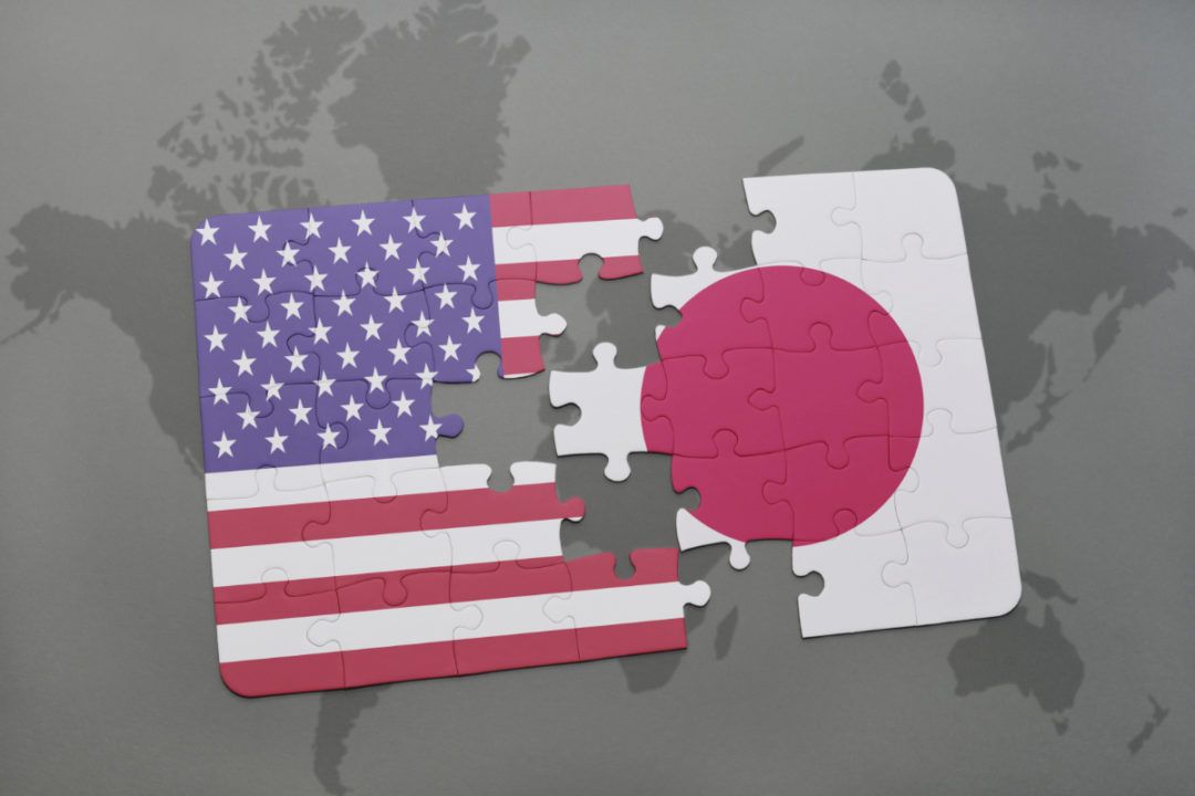 Japan and US flags puzzle
