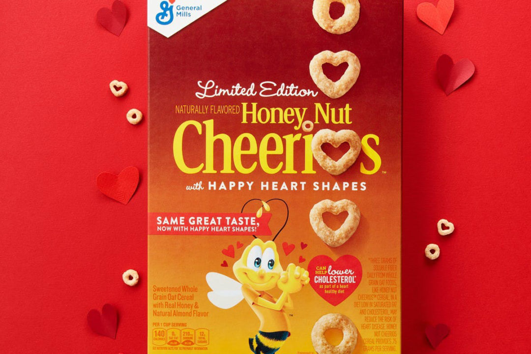 Cheerio's happy heart from general mills