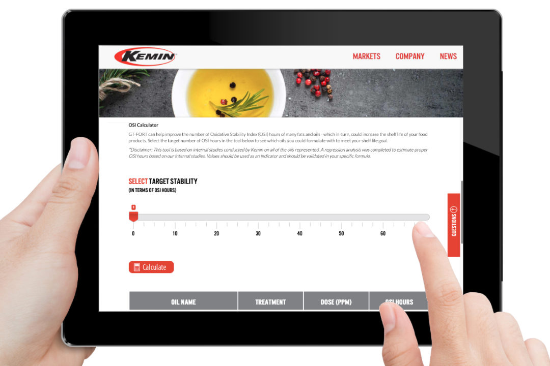 Kemin oil OSI calculator