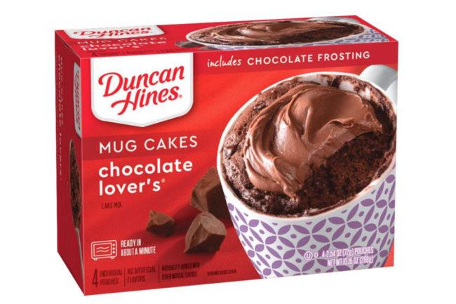 New Duncan Hines mug cakes, Conagra Brands