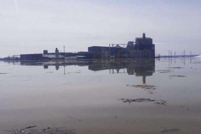Manildra flooded facility