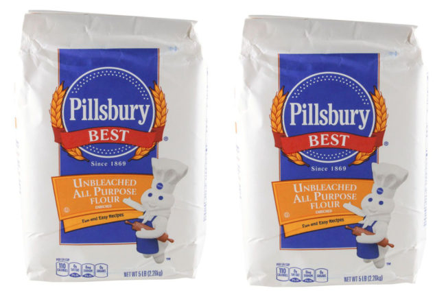5-lb bags of Pillsbury Unbleached All Purpose Flour