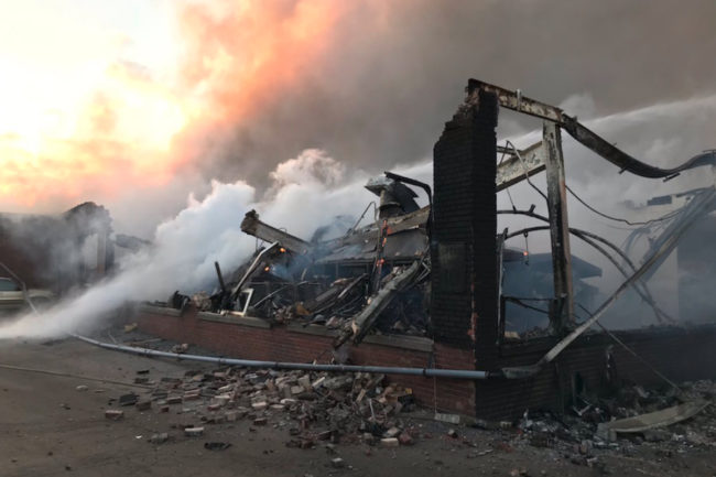 Newly Weds Foods facility after fire
