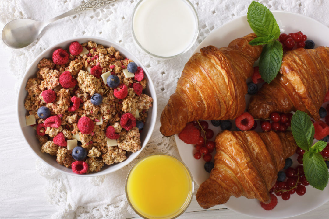 Croissants and cereal