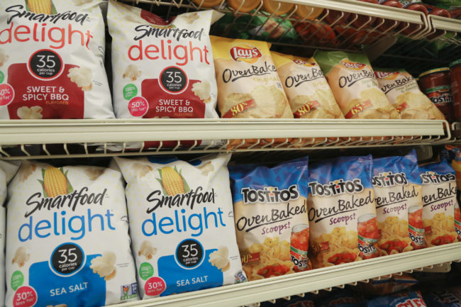 Frito-Lay snacks on supermarket shelf