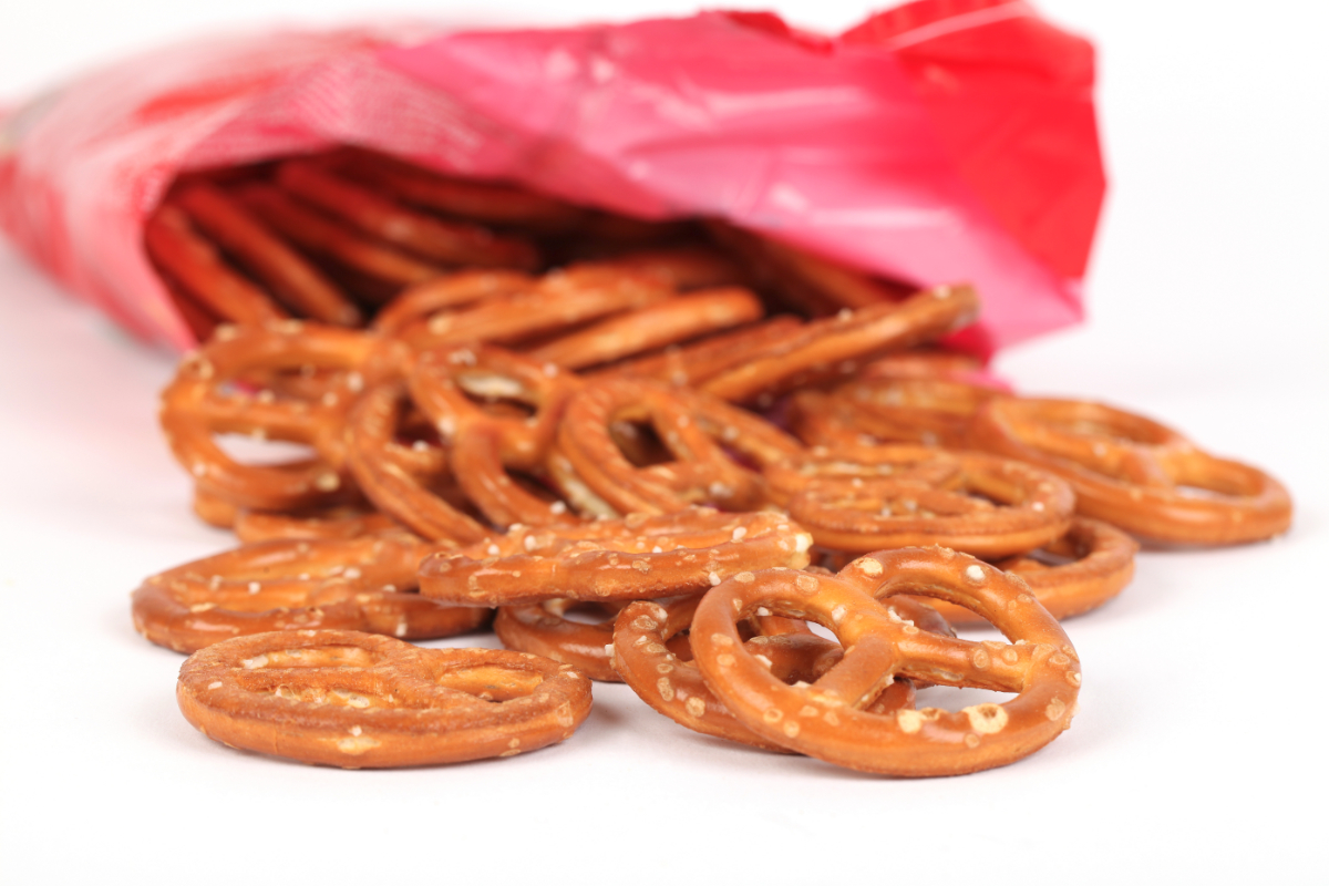 Bag of private label pretzels