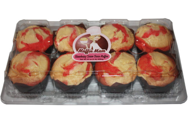 Muffin Mam strawberry cream cheese muffins