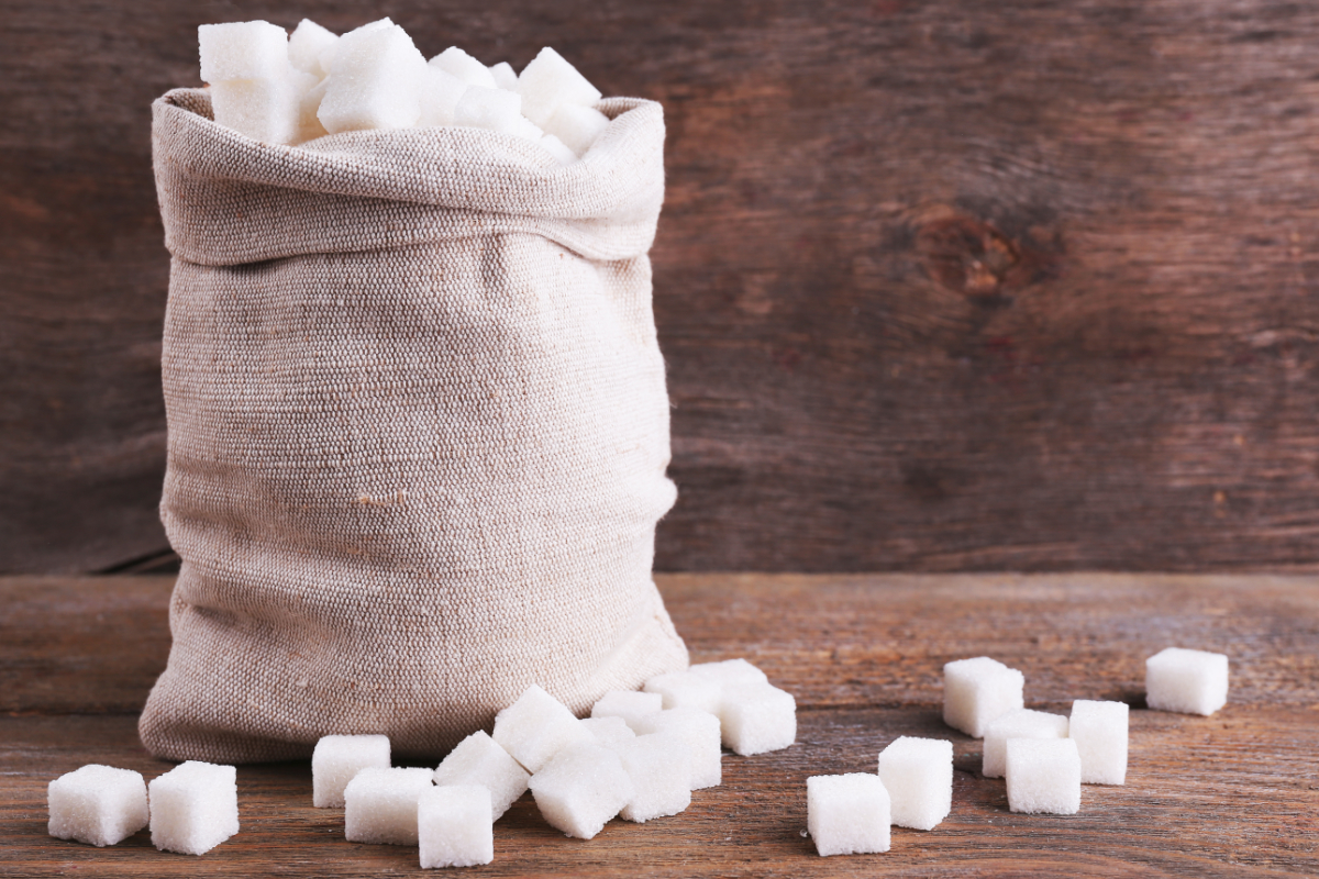 Bag of sugar cubes