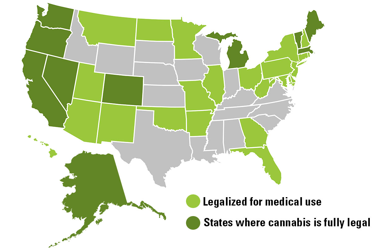 Where Marijuana is legal