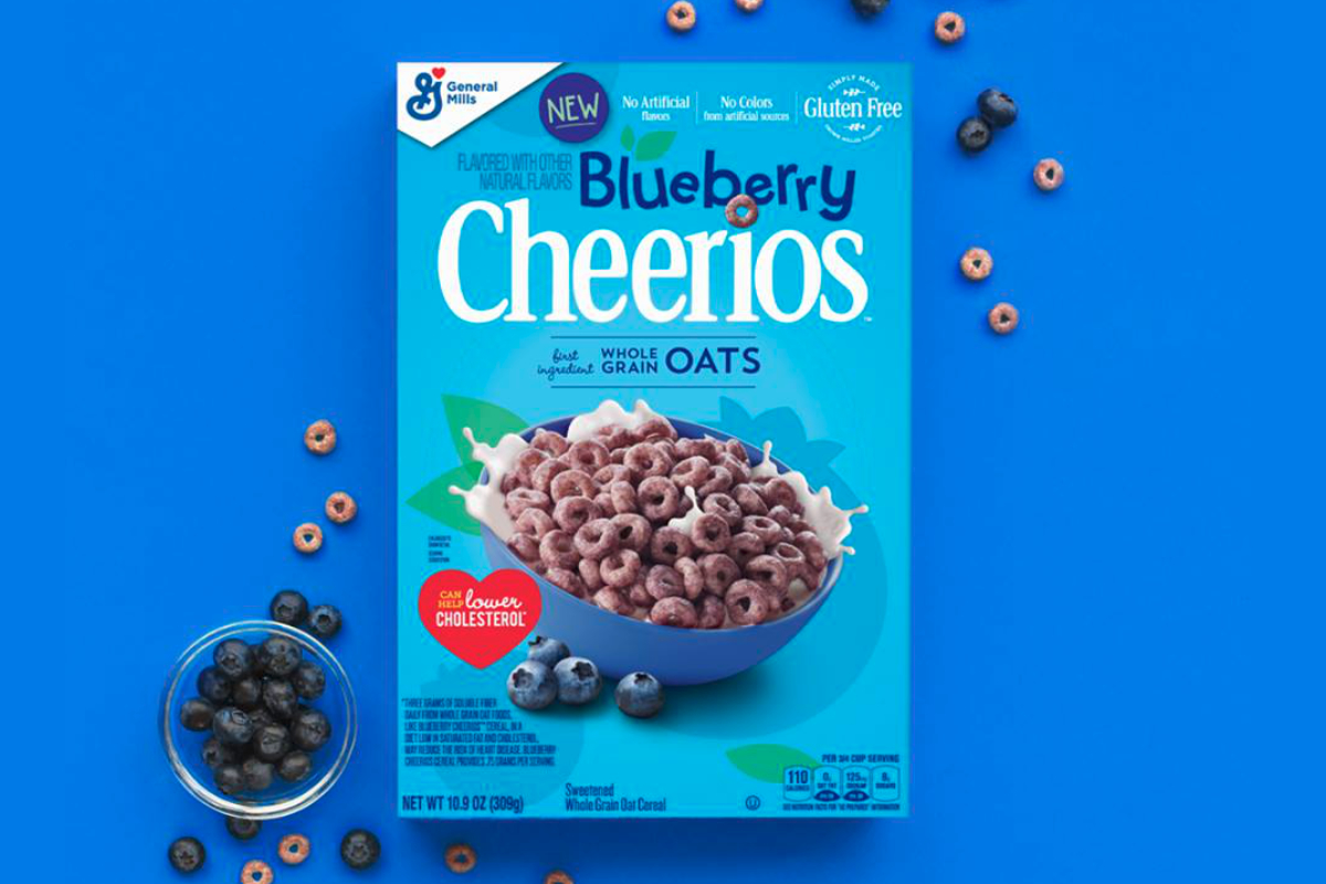 Blueberry Cheerios, General Mills
