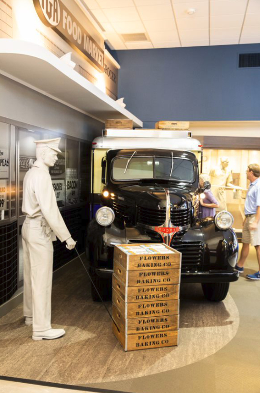 Flowers Foods History in the Baking exhibit truck