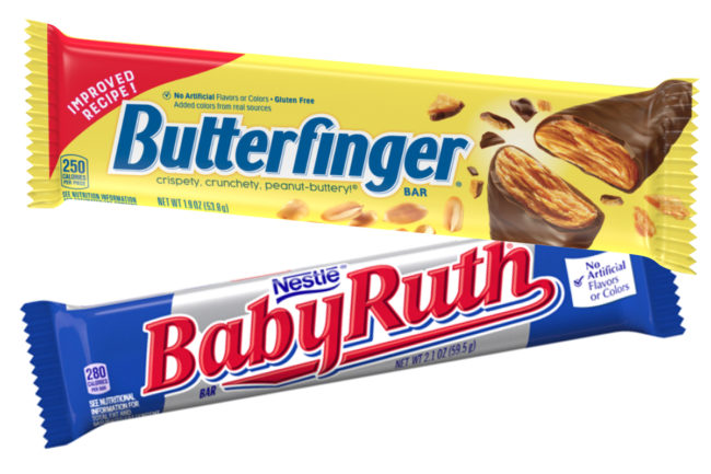 New Butterfinger recipe, Baby Ruth, Ferrara